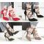 รองเท้าส้นสูงปลายแหลมสายผูกไขว้หน้าสีแดง/ดำ/เทา/เขียว ไซต์ 34-39 thumbnail 1