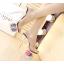 รองเท้าส้นแก้วใสแต่งดอกไม้ผ้าด้านในส้นพื้นสีดำ/ขาว ไซต์ 34-39 thumbnail 3