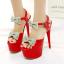 รองเท้าส้นสูงสีขาว/ดำ/แดง ไซต์ 34-39 thumbnail 3