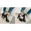 รองเท้าส้นสูงแต่งดอกไม้น่ารักๆสีชมพู/ขาว/ดำ ไซต์ 34-43 thumbnail 5