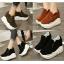 รองเท้าผ้าใบเสริมส้นสีน้ำตาล/ดำ/เขียว ไซต์ 35-39 thumbnail 1