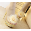 รองเท้าส้นสูงแบบสวมแต่งกุหลาบผ้าสีดำ /ทอง ไซต์ 34-38 thumbnail 3
