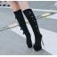 รองเท้าบูทส้นสูง ไซต์ 34-39 สีดำ/แดง/ครีม/เทา thumbnail 8