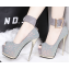 รองเท้าส้นสูงเปิดหน้าสีน้ำเงิน/แดง/เทา/เงิน (สามารถถอดสายรัดข้อออกได้) thumbnail 6