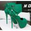 รองเท้าส้นสูง ไซต์ 34-39 สีดำ/แดง/เทา/เขียว thumbnail 12