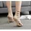 รองเท้าส้นสูงสีครีม/ดำ ไซต์ 35-40 thumbnail 3