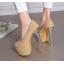 รองเท้าส้นสูงเก็ดกลิ๊กเตอร์สีฟ้า/ม่วง/ทอง/ชม ไซต์ 34-43 thumbnail 3