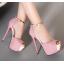 รองเท้าส้นสูง ไซต์ 34-39 สีดำ สีชมพู thumbnail 4