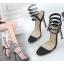 รองเท้าส้นสูงสายพันรอบขาสวยเก๋สีดำ ไซต์ 35-40 thumbnail 3