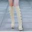 รองเท้าบูทส้นสูง ไซต์ 34-39 สีดำ/แดง/ครีม/เทา thumbnail 5