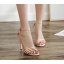 รองเท้าส้นสูงรัดข้อสายคาดหน้า 3 เส้น สีแดง/ดำ/ครีม ไซต์ 35-40 thumbnail 4