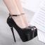 รองเท้าส้นสูง ไซต์ 34-38 สีดำ/ขาว thumbnail 3