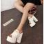 รองเท้าส้นสูงแบบสวมส้นหนาสีขาว/ดำ ไซต์ 34-38 thumbnail 9