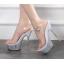 รองเท้าส้นสูงดีไซน์ส้นสวยหรูสีแดง/ดำ/ขาว ไซต์ 34-40 thumbnail 7