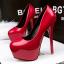 รองเท้าส้นสูง ไซต์ 34-39 สีดำ สีแดง สีชมพู สีเขียว thumbnail 11