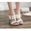 รองเท้าส้นสูงแบบสวมสีดำ/ขาว ไซต์ 35-40 thumbnail 5