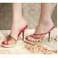 รองเท้าส้นสูงแบบสวมสีแดง/ดำ ไซต์ 34-39 thumbnail 7
