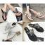รองเท้าคีบติดผีเสื้อสีดำ/เงิน ไซต์ 35-39 thumbnail 1