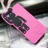 iPhone 5 / 5s / SE - เคสนิ่ม ซิลิโคน เคสหมี BEARBRICK สีชมพู