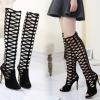 รองเท้าส้นสูงตาข่ายยาวีดำ ไซต์ 35-40