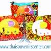 ของฝากจากไทย กระเป๋าสตางค์ช้าง (แพ็ค 4 ชิ้น คละสี) แบบ 13