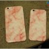 iPhone 6 Plus / 6s Plus - เคสแข็งปิดขอบ ลายหินอ่อน (สีชมพู)
