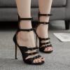 รองเท้าส้นสูงดีไซน์โบว์เล็กๆติดสายสีดำ ไซต์ 35-40