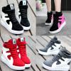 รองเท้าผ้าใบเสริมส้นสีแดง/ดำ/ชมพู/เทา ไซต์ 35-39