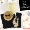 F10714 ชุดจั้มสูทกางเกงขายาว คอกลมแต่งระบาย แขนกุด กางเกงขายาว มีซิปหลัง เสื้อด้านบนเป็นผ้าลูกไม้ สีครีม(เหลือง)