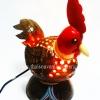 ของขวัญไทยๆ โคมไฟกะลามะพร้าว รูปสัตว์แฟนซีไก่