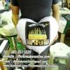012 สกรีนหมอนอิงหัวใจ
