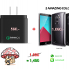 [Value Pack 1+1]Ringke Fusion for LG G4 (Smoke Black) and Aukey Quick Charge 2.0 18w Wall Charger ** Promotion free EMS **