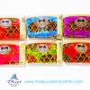 ของขวัญให้ผู้ใหญ่ กระเป๋าสตางค์ผ้าลายผ้าถุงขอบหนัง (แพ็ค 6 ชิ้น คละสี ) แบบ 11