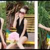 Happy Summer 013 สีดำ ไซส์ M L XL