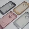 iPhone 6 / 6s - เคสยาง TPU หลังใส ขอบสี motomo