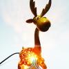 ของขวัญไทยๆ โคมไฟกะลามะพร้าว รูปสัตว์แฟนซีกวางนั่ง