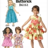 แพทเทิร์นตัดชุดเดรสเด็กหญิง Butterick 6161 Size: 2-3-4-5