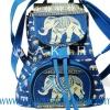 ของฝากจากไทย กระเป๋าเป้ช้าง แบบ 1 สีฟ้า