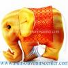 ตุ๊กตาช้างผ้าไหม แบบ 37 หมอนช้าง size M สีน้ำตาลส้ม