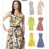 แพทเทิร์นตัดเดรสสตรี มิกซ์แอนด์แมช Vogue 9167E5 ไซส์ใหญ่ Size: 14-16-18-20-22 (อก 36-44 นิ้ว)