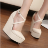 แฟชั่นรองเท้าส้นเตารีดสไตล์เกาหลี