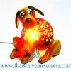 ของขวัญไทยๆ โคมไฟกะลามะพร้าว รูปสัตว์แฟนซีสุนัข