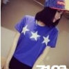 7103 เสื้อยืดลายดาว สีน้ำเงินอ่อน