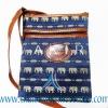 ของฝากจากไทย กระเป๋าสะพายลายช้างสายหนัง แบบ 10 สีน้ำเงิน
