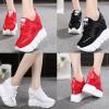 รองเท้าผ้าใบเสริมส้นสีแดง/ดำ/ขาว ไซต์ 35-39