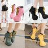 รองเท้าบูท ไซต์ 34-39 สีดำ/เหลือง/ชมพู/เขียว
