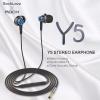 ROCK Y5 หูฟัง Stereo Earphone (สุดแจ่ม เสียงดีมากกก ใส่นานไม่เจ็บหู) แท้