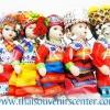 ของขวัญไทย ตุ๊กตาชาวเขา ชาวดอย (แพ็ค 5 ตัว) ตัวใหญ่