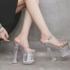 รองเท้าส้นสูงแก้วใส ไซต์ 34-39