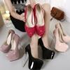รองเท้าส้นสูง ไซต์ 34-40 สีดำ สีครีม สีแดง สีม่วงอ่อน